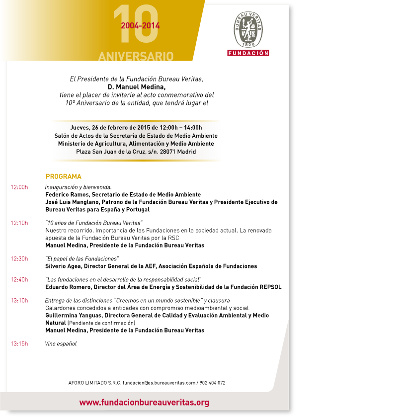 10 aniversario de la fundaci n bureau veritas 26 02 2015 madrid cl ster mar timo espa ol - Veritas bureau de controle ...